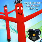 15and039 Red Wind Dancer Air Puppet Sky Wavy Man Dancing Inflatable Tube + Blower
