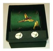 Choose Boxed Soprano Pheasant Tie And Oval Pheasant Cufflinks, Game Day Shooting