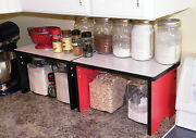 Kitchen Shelf More Counter Space Wood Storage Canister Stackable