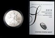 2015-w Perfect In Mint Boxes With Cert Burnished Silver Eagle West Point Proof