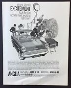 Magazine Advert Ford Anglia Car Excitement1961 Full Page Vintage