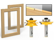 Ogee 2 Bit Glass Door Rail And Stile Router Bit Set - 1/2 Shank - Yonico 12234