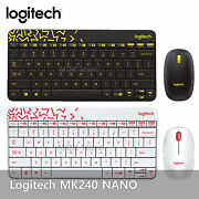 Logitech Mk240 Nano Usb Receiver Wireless Keyboard And Mouse Combo 2 Colors