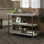 Sauder Canal Street Wood And Metal Anywhere Console Table In Northern Oak