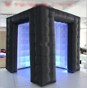 Inflatable Cube Photo Booth Air Tent Portable 2door Photobooth W/led Lights Logo
