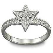 New Star Shaped Crystals Pleasure Ring 1106486 Nwt 85