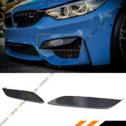 For 15-18 Bmw F80 M3 F82 F83 M4 Carbon Fiber Front Bumper Air Vent Eyelid Covers