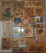 Lo 23 Rubber Stamps Baby Infant New Bunny Loony Tunes Crib Scrapbook Kids