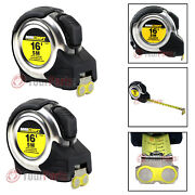 2 Pack Maxcraft 60403 16' Ft X 3/4 Auto Locking Tape Measure Metric And Standard