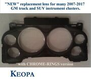 New 2007-2013 Gm Truck And Suv Chrome-ring Replacement Instrument-cluster Lens.