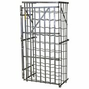 Industrial French 50 Bottle Locking Wine Rack Cage Circa 1930