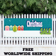 Banner Vinyl Christmas Sale Advertising Sign Flag Store Discount Holidays Gifts