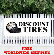 Banner Vinyl Discount Tires Advertising Sign Flag Used Sale Sell Wheel Save