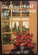 The Flower World Of Williamsburg By Joan Parry Dutton 1976, Paperback