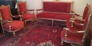 5 Wooden Pieces Of Antique Furniture With Matching Coffee Table