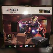 3d Hd 4k Compatible Home Cinema Projector Legacy Hda-77 And 72 Mv-90 Screen.