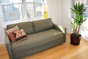 Canvas Home - Barely Used Crosby Loveseat In Linen