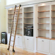 Quiet Glide Standard Rolling Library Ladder Kit With A 9-ft. Ladder Qg.210-9