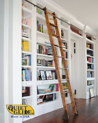 Quiet Glide Rolling Hook Library Ladder Kit With A 9-ft. Ladder, Qg.510-9