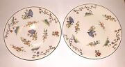 Two Royal Worcester 1920s Butterfly Porcelain Plates