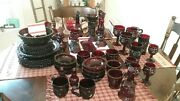 67 Pieceand039s Of Avon Red Ruby Dishes..
