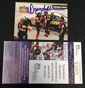 Davey Allison 1993 Maxx Texaco Racing Signed Autographed Card 18 Jsa Certified