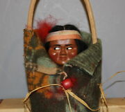 Skookum Bully Good Indian Doll With Green Blanket In Box