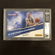 Stephen Curry Warriors Signed Auto 2011 All Star Fan Fest 5x7 Panini Photo Bas
