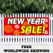 Banner Vinyl New Year Sale Advertising Sign Flag End Of The Year Clearance Gift