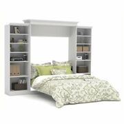 Bowery Hill Queen Wall Bed With Storage In White