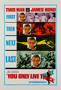 Original You Only Live Twice Us 1 Sheet Bond Film/movie Poster On Linen