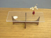 Glass And Wood Rectangle Coffee Table 112 Miniature Furnituremodern 60and039s Design