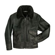 Cockpit Usa The Greenburgh Shearling Jacket Z21w107 Made In Usa