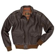 Cockpit Usa 40th Anniversary A-2 Jacket Brown Made In Usa Z21w009w
