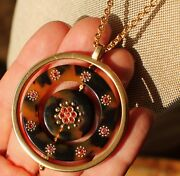 Kate Spade Out Of Her Shell Necklace Nwt Classic Tortoise Shell Long Pendant Gem