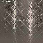 8 Pack - 22ga Brushed Quilted Diamond Stainless Steel Wall Panel 4and039 X 10and039