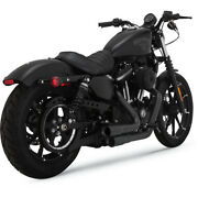 Vance And Hines 46874 Black Mini Grenades 2 Into 2 For Harley 2004-2017 Xl Models