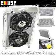3 Row Aluminum Racing Radiator+12 Fans Fits 79-93 Ford Mustang Glx Lx Gt Svt