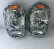Pair Of Euro Style Headlights And Chrome Fits Mercedes 230sl 250sl 280sl W113