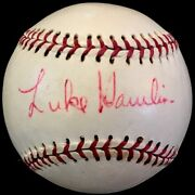 Only Known Luke Hot Patato Hamlin D.78 Jsa Loa Signed Baseball Dodgers Tigers