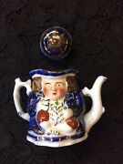 Allerton Miniature Double Sided Toby Teapot Made In England