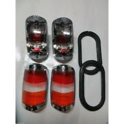 Pair Early Style Red / Amber Taillights Fits Mercedes W121 W120 190sl Ponton