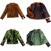Hs-1035 Exotic Nature Hairy Anjum Goat Calf Hide Leather Womanand039s Jacket