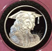 Class Of 1991 Graduate 1 Troy Oz .999 Fine Silver Ag Rare Round Proof Coin Medal