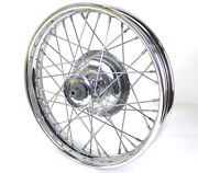 Chrome Replica 18 45 Solo Front Wheel And Drum For Harley 1930 - 1952 And Servi-car