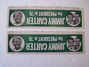 2 Vintage 1976 Jimmy Carter For President Bumper Stickers Misprints Nos Nyc