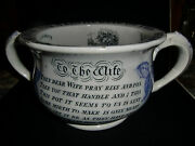 Early 19th Century Motto Transfer Chamber Pot - Circa 1830-40
