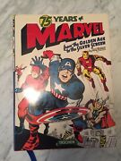 Marvel Comics 75 Years Of Marvel Book Signed By Stan Lee And Roy Thomas