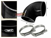 4 Silicone Intercooler Pipe Elbow Coupler Black +t-bolt Clamp For Buick
