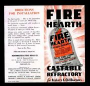 Vintage 1945 Fire Hearth Oil Burners Stove And Furnace Lining Flyer Chicago Ill 88